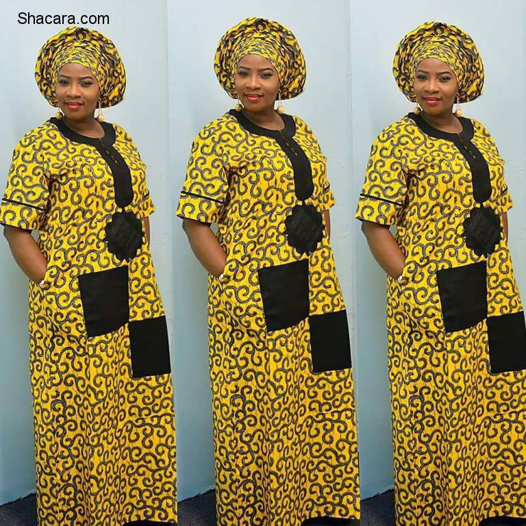 Get The Comfy Feeling With The Ankara A Line Gowns