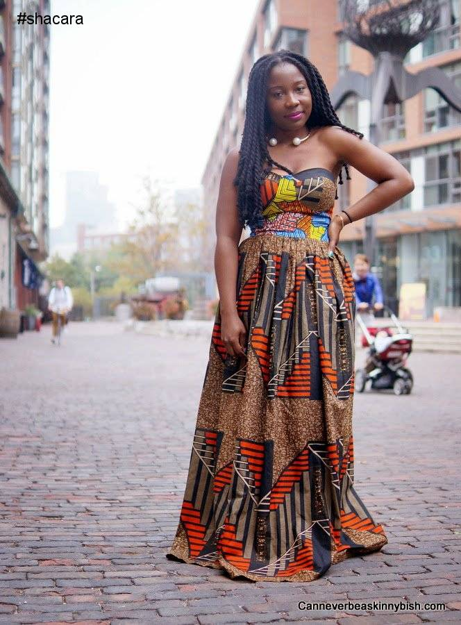 THE LATEST ANKARA LONG GOWN STYLES