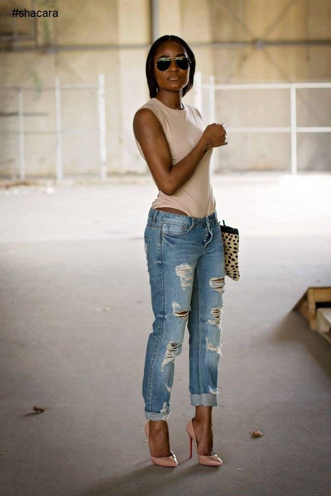 BODYSUIT AND JEANS; THE ULTIMATE CASUAL LOOK FOR THE WEEK.