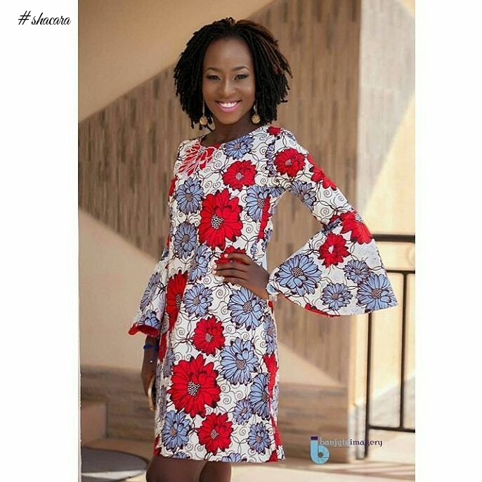 GET WOW THIS WEEKEND WITH THESE STUNNING HEAD TURNING ANKARA STYLES.