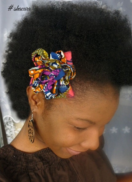 Fabulous Ways To Style Your Hair With African Print Hair Accessories