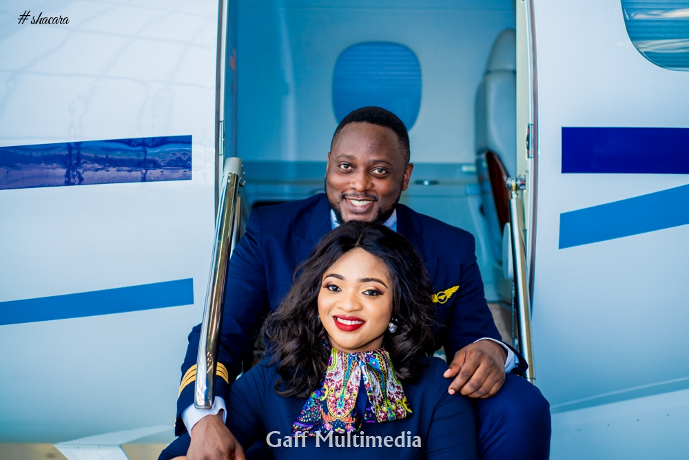 Welcome on Board! An Aviation Themed Pre-wedding Shoot for Blessing & John