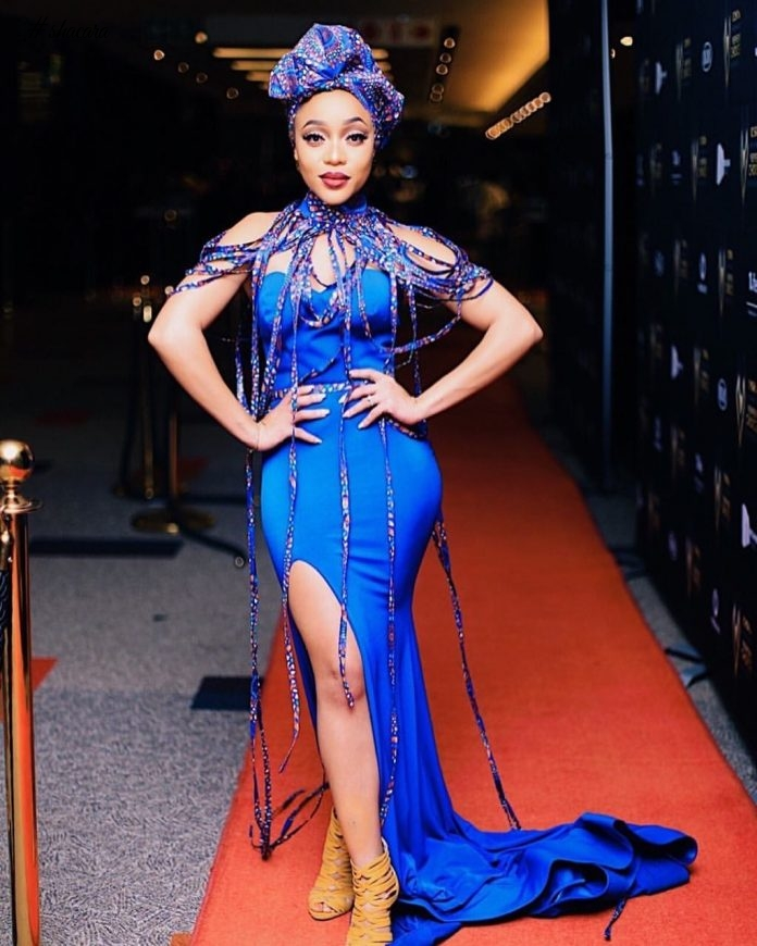 Hot Shots: Thando Thabethe Takes On This Amazing Scalo Dress For A Ride, See This Images
