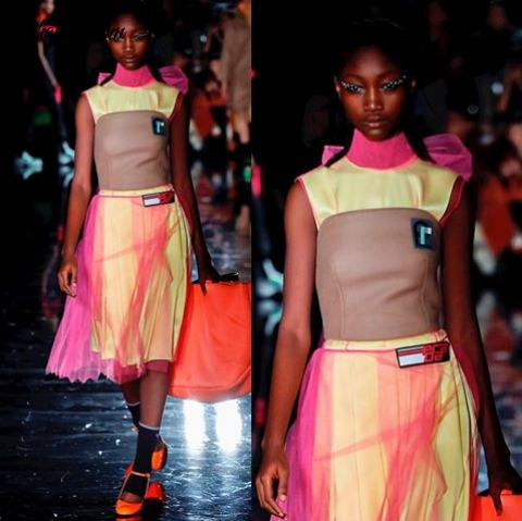 Nigerian Model Eniola Abioro Makes History At Milan Fashion Week
