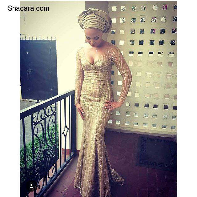 Check Out How Stylish Guests Are Rocking Beautiful Aso Ebi Styles