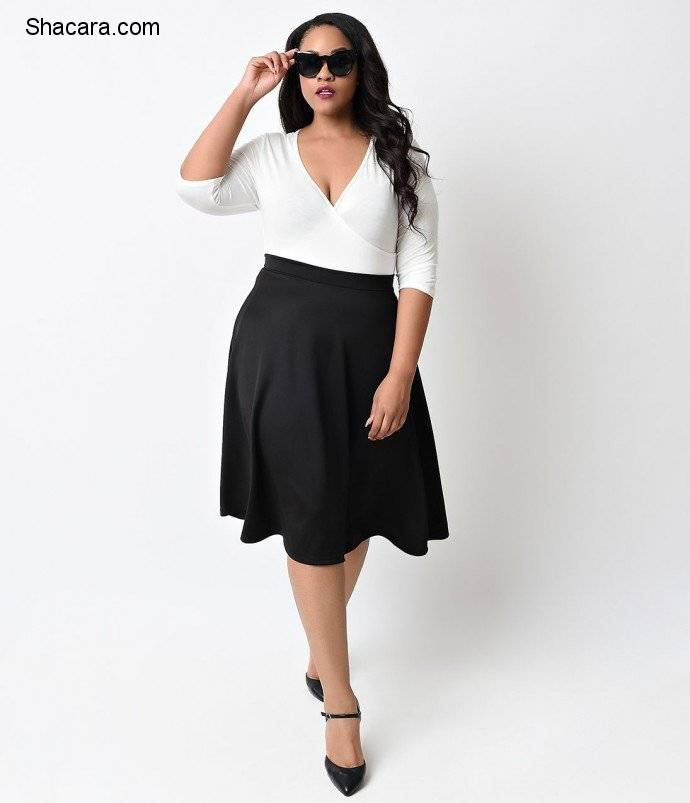 THE BEST WAYS TO ROCK THE PLUS-SIZE HIGH WAIST FLARE SKIRT IN STYLE.
