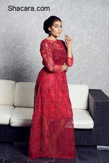 ADUNNI ADE MODEL IN ABBYKE DOMINA'S LOOKBOOK FOR NEW COLLECTION 'THE NORTHERN BRIDE'
