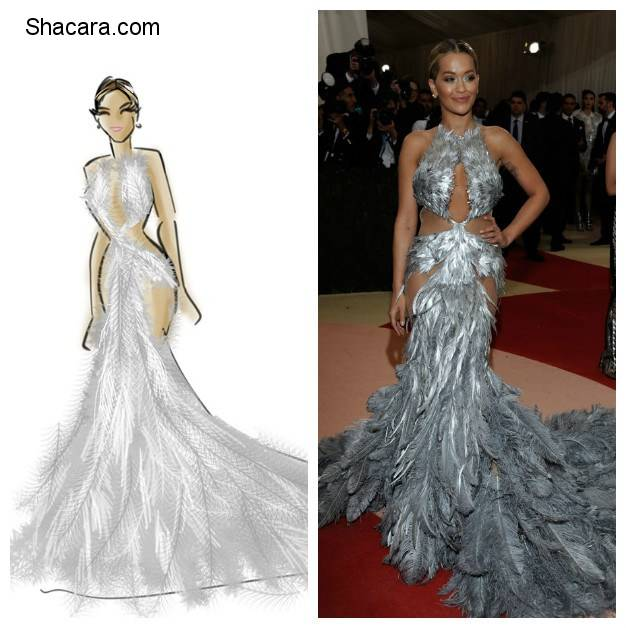 SEE ILLUSTRATIONS OF ALL YOUR FAVOURITE DRESSES AT THE MET GALA MANUS X MACHINA LOOKS ZOË SALDANA, RITA ORA, LUPITA NYONG'O AND MANY MORE