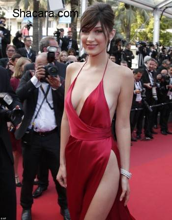 Bella Hadid Wows In A Very Racy Alexandre Vauthier Dress At Cannes Festival