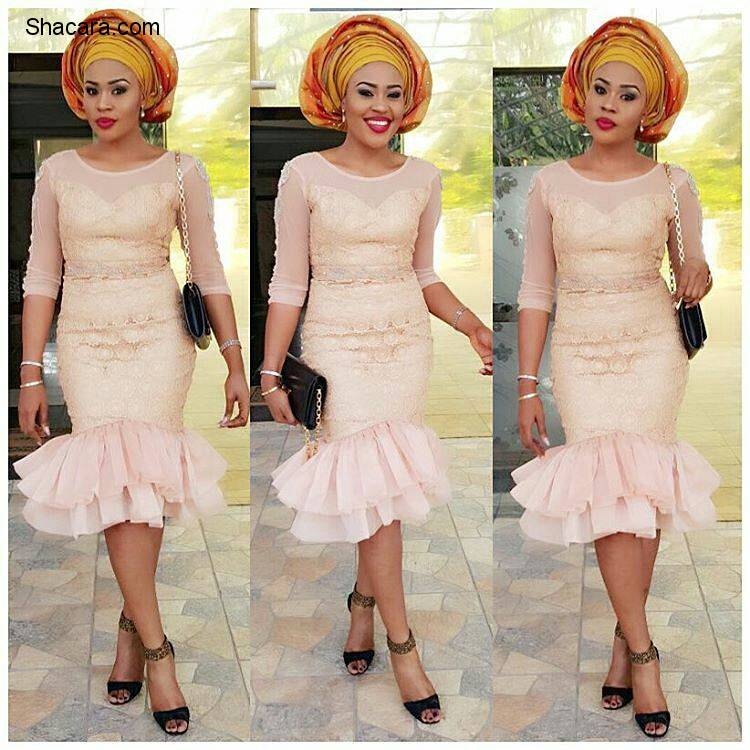 Latest Nigerian Lace Styles Wedding Guest Are Slaying