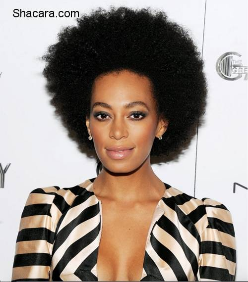 Have A Look At Solange Knowles' Natural Hair Journey
