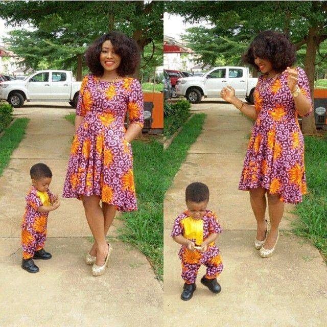 See All The Viral African Fashion Mother & Daughter/Son Images Breaking The Net