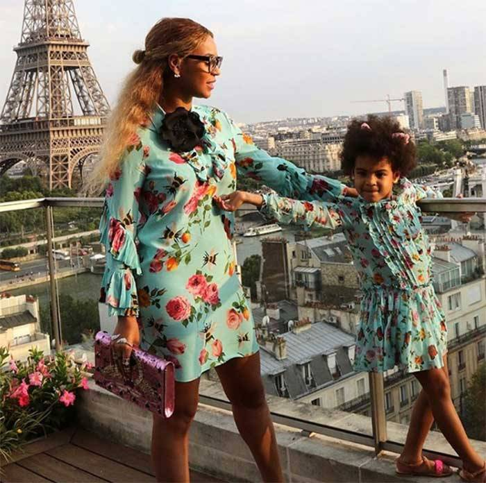Twinning In Gucci! These Photos Of Beyonce & Blue Ivy In Matching Outfits Are Too Cute