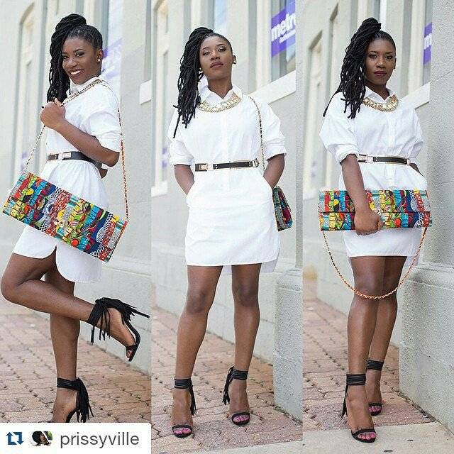 SUPER CHIC WAYS TO CARRY YOUR ANKARA BAG