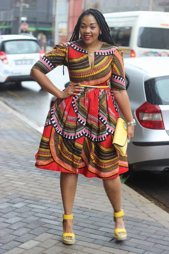 EXCUSES HAVE RUN OUT; ROCK THESE PLUS-SIZE SHORT ANKARA DRESSES