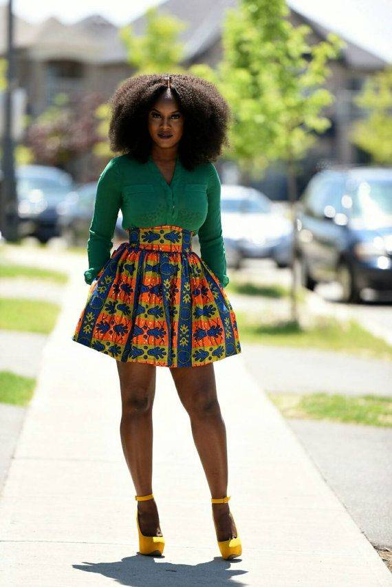 THE STYLISH ANKARA SKATER SKIRT YOU SHOULD ROCK NOW