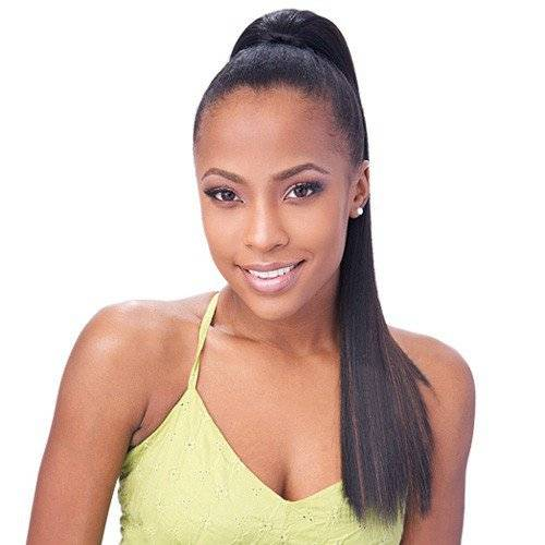 VIBRANT WEAVE PONYTAIL HAIRSTYLE FOR AFRICAN WOMEN