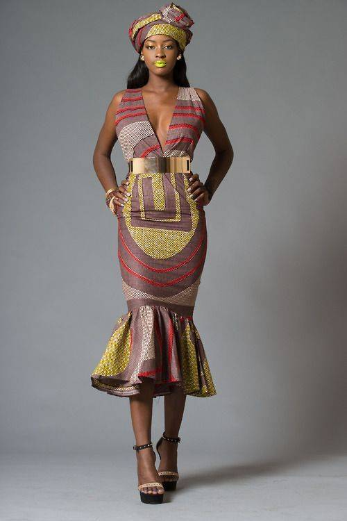FLAUNT YOUR FLAWLESS SKIN IN ANKARA SLEEVELESS DRESSES