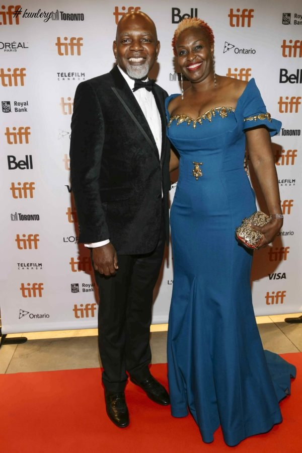 "BIMBO AKINTOLA, DANNY GLOVER, SOMKELE IYAMAH-IDLAHAMA ON THE TIFF FESTIVAL RED-CARPET FOR THE SOLD OUT PREMIERE OF ""93 DAYS"""