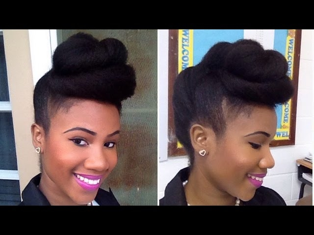 CINNAMON ROLL UP-DO FOR NATURAL HAIR