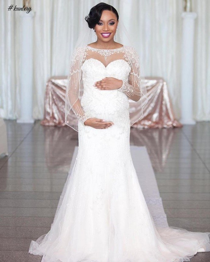 WEDDING DRESS INSPIRATION FOR PREGNANT BRIDES