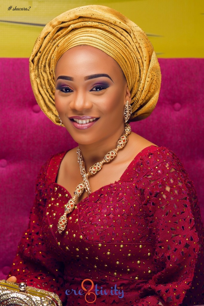 Perfect Traditional Jewellery! Sika Osei & Atinuke Solanke Gorgeous Yoruba Brides For Gbenga ArtSmith